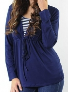 Hoodie maternity wear funky muma navy blue