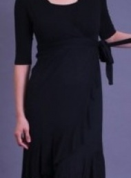 Evita black nursing dress funky muma breastfeeding pregnancy maternity wear