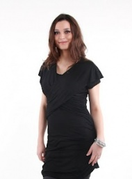 Manhattan mini black nursing bamboo funky muma breastfeeding pregnancy maternity wear
