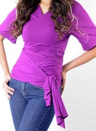 Geisha wrap maternity wear funky muma purpleiii
