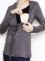 Hoodie black and white breastfeed bamboo funky muma breastfeeding pregnancy maternity wear